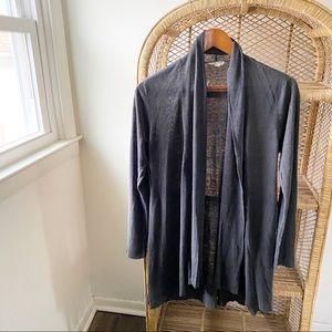 Eileen Fisher Grey Linen Open Front Cardigan✨